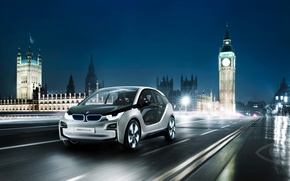 Picture Concept, night, London, BMW i3
