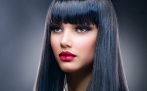 Picture look, girl, eyelashes, model, makeup, Anna Subbotina