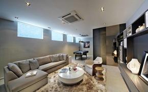 Picture design, style, room, interior, Billiards