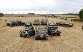 Picture technique, truck, tank, armored car