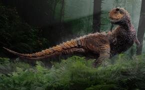 Wallpaper Sastrei, dinosaur, Carnotaurus