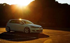 Picture volkswagen, white, Golf, golf, Volkswagen, frontside