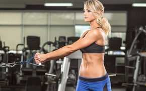 Wallpaper fitness, blonde, workout, gym
