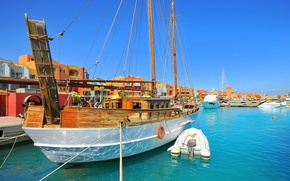 Picture the city, Marina, boats, Egipt, Hurghada