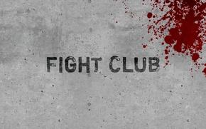 Picture wall, blood, minimalism, fight club, fight club