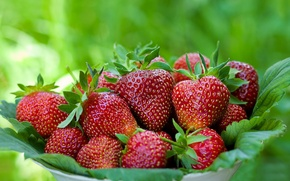 Picture background, strawberry, berry