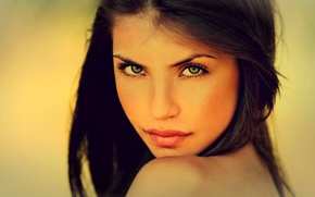 Picture look, face, Girl, brunette, lips
