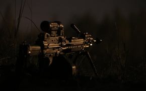 Picture weapons, the evening, machine gun, manual