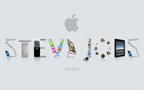 Picture Wallpaper, apple, Steve jobs, 1955-2011 year