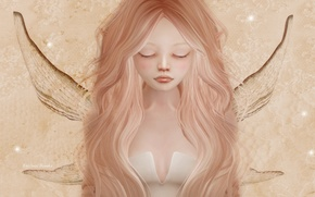 Picture sadness, hair, elf, wings, fairy, girl, face