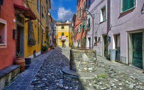 Picture street, home, well, Italy, Vezzano Ligure
