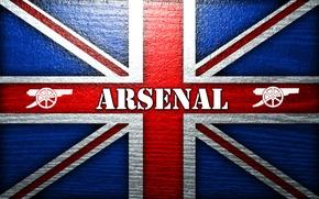 Picture background, flag, gun, Arsenal, Arsenal, Football Club, The Gunners, The gunners, Football club