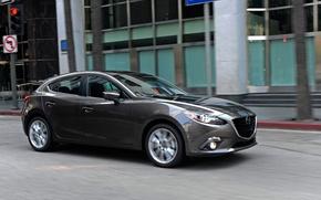 Picture the city, grey, Auto, Mazda, metallic, hatchback, Mazda