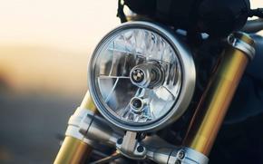 Picture BMW, light, logo, moto, design, classic, NineT
