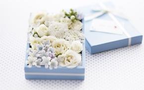 Picture flowers, box, decor