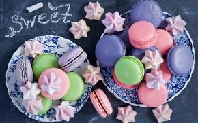 Picture cookies, sweets, colorful, dessert, Anna Verdina, meringue, meringue, macaron