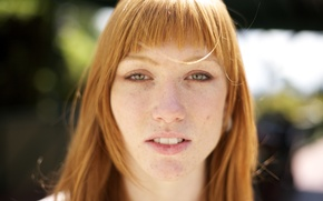 Picture girl, woman, bokeh, face, redhead, female, freckles, Meghan Mooberry