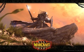 Picture sword, warrior, Reign of Haos, Alliance, Warcraft