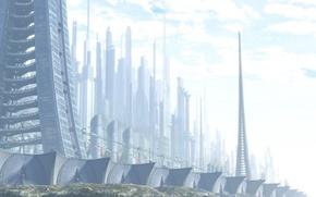Wallpaper building, Future, wall