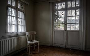 Picture the door, window, chair