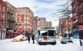 Picture winter, snow, new York, winter, new york, snow, usa, nyc, East Village