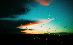 Picture color, drops, Glass