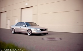 Picture Audi, Audi, grey, tuning, low, stance works