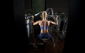 Picture back, fitness, gym, machine gym