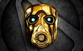 Picture sign, Gearbox Software, 2K Games, mask, gold, Borderlands: The Handsome Collection