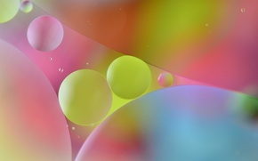 Picture color, the volume, oil, water, round, bubbles, the air