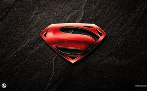 Wallpaper logo, film, yuusha, official wallpaper, Man of Steel, movie, hero, Superman, S, wall, cinema