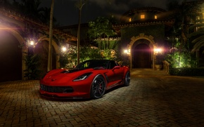 Picture red, z06, chevrolet corvette, hq Wallpapers