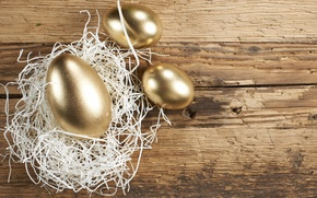 Picture holiday, Easter, socket, Golden eggs