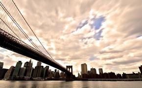 Wallpaper the sky, water, the sun, city, the city, America, USA, new york, america, usa, new ...