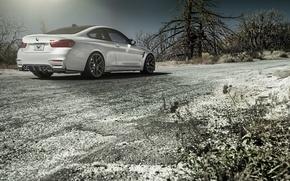 Picture BMW, Sky, Vorsteiner, Sun, White, Tuning, Road, Rear