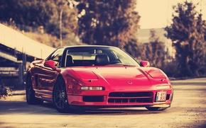 Picture red, front, Honda, acura, honda nsx, Acura