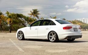 Picture Audi, white, vossen wheels, rearside