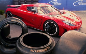 Picture Koenigsegg, tires, red, Agera R