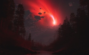 Picture Forest, Russia, Fiction, Meteorite