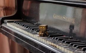 Picture music, box, piano