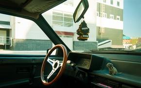 Picture sport, interior, the wheel, 2108, stens