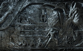 Picture dragon, bas, fantasy, dragonborn, the elder scrolls, skyrim, Skyrim