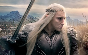 Picture sword, armor, fantasy, elves, poster, king, army, elf, Mirkwood, King, Thranduil, Lee Pace, Lee Pace, ...