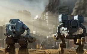 Picture the city, robots, megapolis