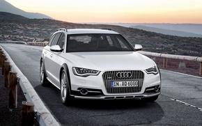 Picture Audi A6, Allroad Quattro, White Car