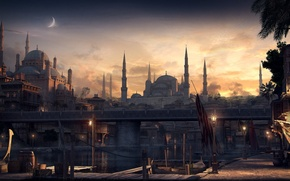 Picture the city, graphics, mosque, render, Constantinople