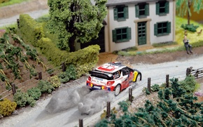 Picture House, Machine, Model, The building, Citroen, DS3, WRC, Rally, Sebastien Loeb, Layout, Diorama