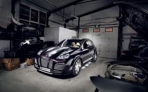 Wallpaper cayenne, Porsche, garage
