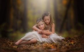 Picture autumn, girls, bokeh, danielle balance