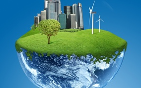 Wallpaper the world, electricity, planet